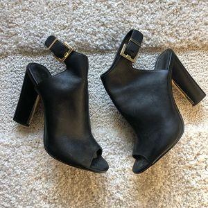 Calvin Klein Black Leather Booties